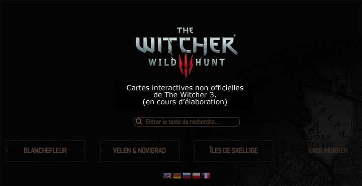 Witcher 3 - cartes interactives