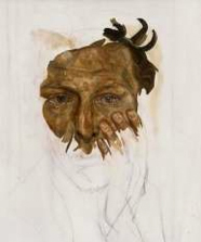 Lucian FREUD, Self Portrait (unfinished), 1956
